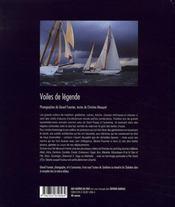 Voiles de l?gendes - 4ème de couverture - Format classique