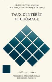 Taux d'interet et chomage - Couverture - Format classique