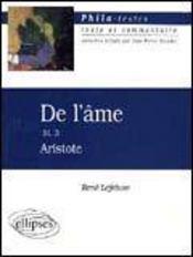 De L'Ame Iii 3 Aristote - Intérieur - Format classique