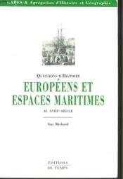 Europeens Et Espaces Maritimes - Couverture - Format classique