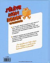 J'Eleve Mon Robot De Compagnie - 4ème de couverture - Format classique