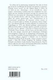 Dynamiques européennes ; nouvel espace, nouveaux acteurs ; 1969-1981 - 4ème de couverture - Format classique