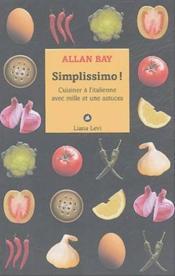 Simplissimo cuisiner a l'italienne - Couverture - Format classique