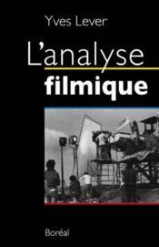 L'analyse filmique - Couverture - Format classique