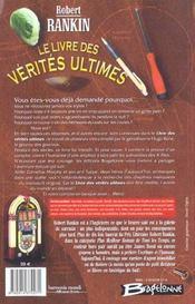 Le livre des verites ultimes - 4ème de couverture - Format classique