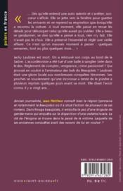 Rouge beaujolais - 4ème de couverture - Format classique