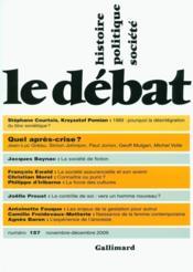 Revue Le Débat N.157 ; quel après-crise ? - Couverture - Format classique