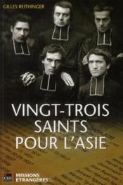 Vingt-trois saints pour l'Asie - Couverture - Format classique