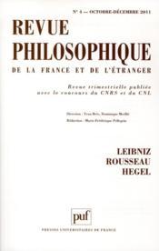 REVUE PHILOSOPHIQUE N.136/4 ; Leibniz, Rousseau, Hegel - Couverture - Format classique
