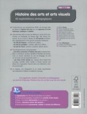 Histoire des arts et arts visuels - 4ème de couverture - Format classique