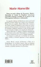 Marie-Marseille - 4ème de couverture - Format classique