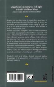 Enquête sur un aventurier de l'esprit ; le véritable Alfred Russel Wallace - 4ème de couverture - Format classique