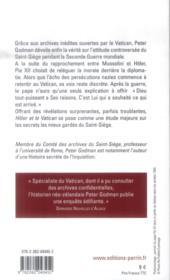Hitler et le Vatican - 4ème de couverture - Format classique