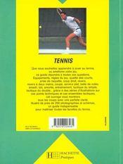 Tennis - 4ème de couverture - Format classique