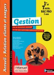 Gestion 1e/term bpro accueil - Couverture - Format classique