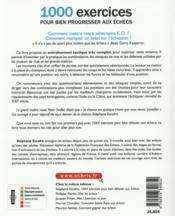 1000 exercices pour bien progresser aux échecs (2e édition) - 4ème de couverture - Format classique