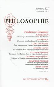 REVUE PHILOSOPHIE N.127 ; fondation et fondement - Couverture - Format classique