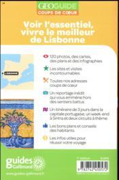 GEOguide coups de coeur ; Lisbonne (édition 2018) - 4ème de couverture - Format classique