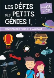 Les défis des petits génies ! ; GS-CP - Couverture - Format classique