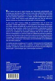 Commission d'accès aux documents administratifs ; rapport d'activité 2006 - 4ème de couverture - Format classique