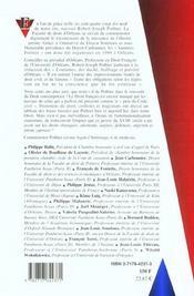 L'Influence De Robert-Joseph Pothier Sur Le Droit En France Et A L'Etranger - 4ème de couverture - Format classique