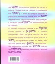 Soupes froides et gaspachos - 4ème de couverture - Format classique