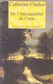 De L'Intranquillite De L'Ame - Intérieur - Format classique