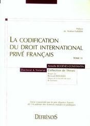 La codification du droit international prive francais (1re édition) - Intérieur - Format classique