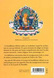 Lexique du bouddhisme tibetain - 4ème de couverture - Format classique