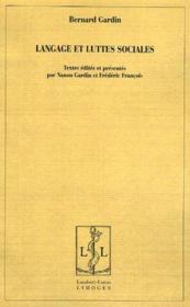Langage et luttes sociales - Couverture - Format classique