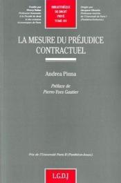 La mesure de préjudice contractuel t.491 - Couverture - Format classique