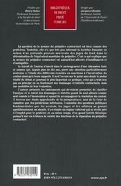 La mesure de préjudice contractuel t.491 - 4ème de couverture - Format classique
