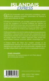 Islandais express - 4ème de couverture - Format classique