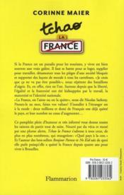 Tchao la France - 4ème de couverture - Format classique