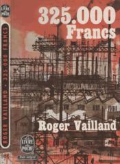 325000 francs - Couverture - Format classique