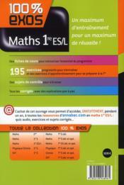 100% EXOS ; mathématiques ; 1ère ES - 4ème de couverture - Format classique