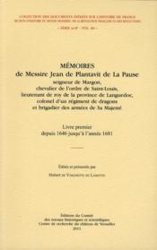 Memoires de messire jean de plantavit de la pause - Couverture - Format classique