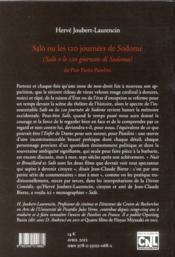 Salò ou les 120 journées de Sodome de Pier Paolo Pasolini - 4ème de couverture - Format classique