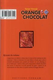Orange chocolat t.6 - 4ème de couverture - Format classique