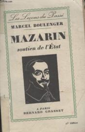 Mazarin Soutien De Letat. - Couverture - Format classique