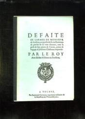 Defaite De L Armee De Monsieur De Soubize. - Couverture - Format classique