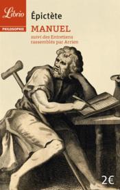 Manuel ; entretiens rassemblés par Arrien - Couverture - Format classique