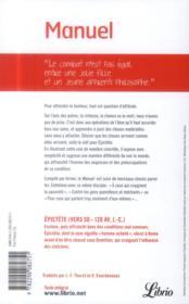 Manuel ; entretiens rassemblés par Arrien - 4ème de couverture - Format classique