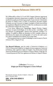Auguste Salzmann (1824-1872) pionnier de la photographie et de l'archéologie au Proche-Orient - 4ème de couverture - Format classique
