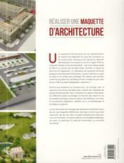 Réaliser une maquette d'architecture (2e édition) - 4ème de couverture - Format classique