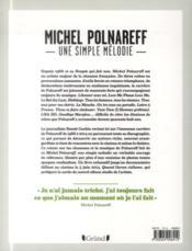 Michel Polnareff - 4ème de couverture - Format classique