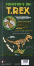 Construis un T-rex - 4ème de couverture - Format classique