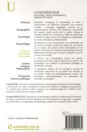 La muséologie ; histoire, développements, enjeux actuels ; 4e édition - 4ème de couverture - Format classique