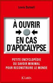 À ouvrir en cas d'apocalypse - Couverture - Format classique