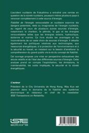 Fiabilité de l'énergie renouvelable et nucléaire - 4ème de couverture - Format classique